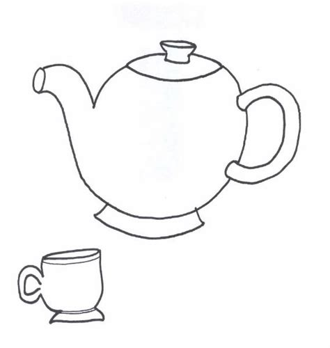 free teapot and cup coloring pages