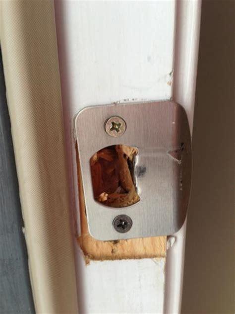 Interior Door Strike Plate Wood Strike Plate Is Splintering Doityourself Community Forums
