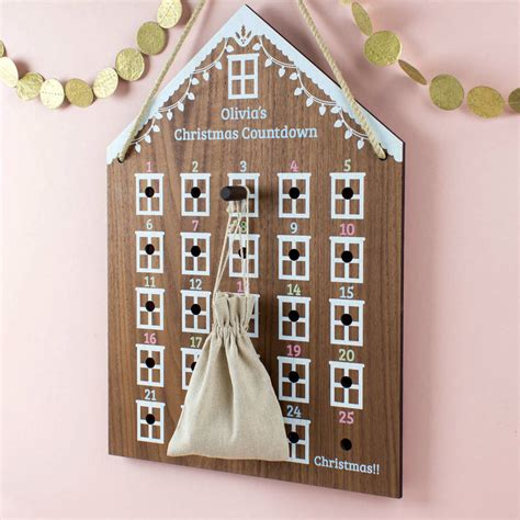 make a personalised calendar personalised advent calendar house by create gift