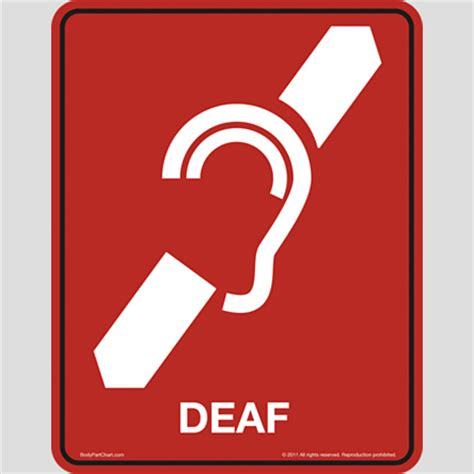 how to a deaf signals deaf icon sign bodypartchart official site