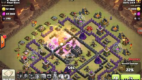 offensive layout in coc coc best th 9 defense offense war strategy youtube