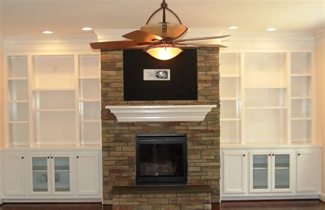 Built In Shelves Around Fireplace by Built In Wall Shelves Around Fireplace Home Design Ideas