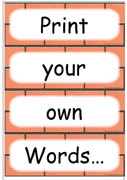free printable word wall templates editable word card templates
