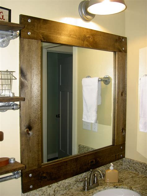 mirrors astonishing cheap framed mirrors rustic bathroom
