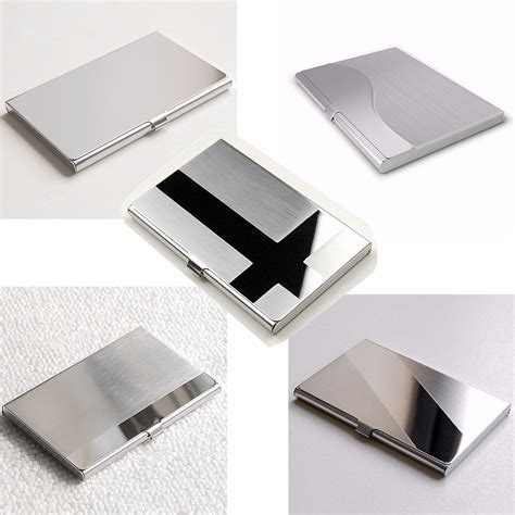 Name Card Holder Istana stainless steel business id credit card holder name card wallet metal pocket box holder at