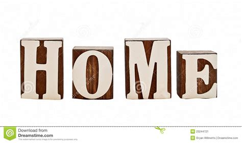 home letters stock image image