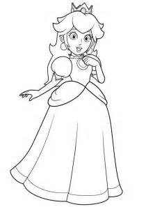 princess peach coloring pages download print free