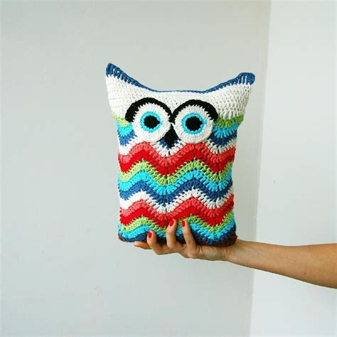 crochet zig zag pillow pattern owl chevron zig zag toy pillow crochet pattern by accessorise