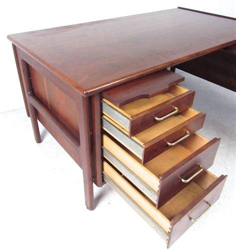 mid century modern desk l impressive mid century modern l shaped executive desk at