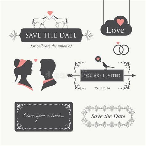 Wedding Invitation Design Elements by Wedding Invitation Design Element Royalty Free Stock