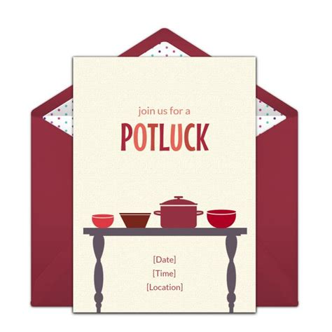 free potluck invitations potluck invitation potlucks