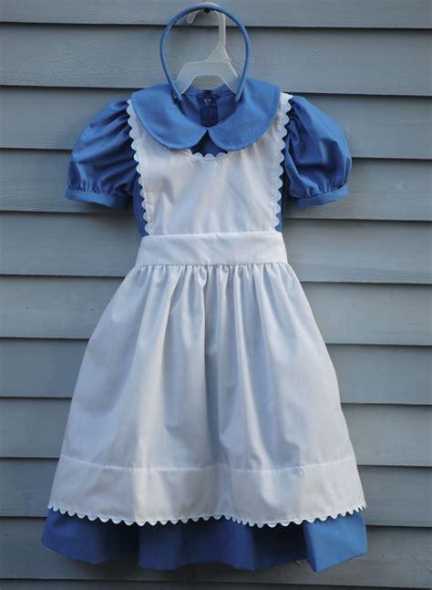 dress pattern alice in wonderland child size 4 5 alice in wonderland costume dress apron by
