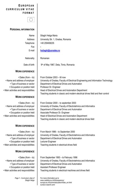 format cv romania download romania cv template for free formtemplate