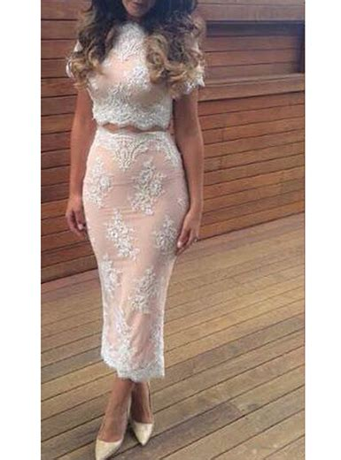 wmns two crop top and skirt white lace brocade