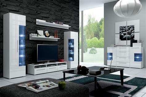 b cherregal f r wohnzimmer hochglanz wohnwand roma italienisches design mit led