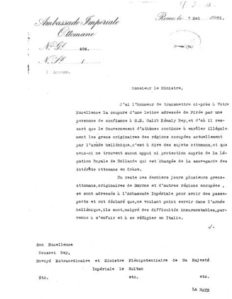 Exemple De Lettre à Un Ministre Le Fran 231 Ais Langue Diplomatique De La Sublime Porte Le Cas De La L 233 Gation Ottomane De La Haye