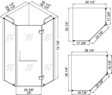 shower sizes dreamline neo shower enclosure without base shen 2038388