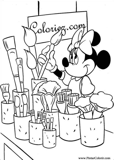 mickey mouse paint coloring pages disegni per dipingere colour minnie stare