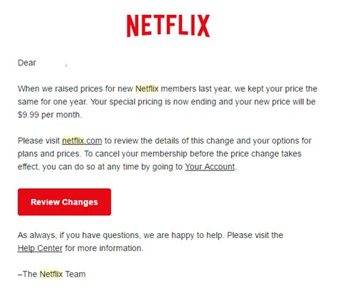 Explanation Letter For Price Increase Netflix Price Increase Does Damage But Media And