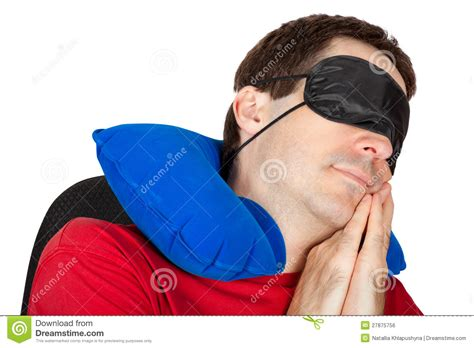 Sleeping Helmet Pillow by With Travel Neck Pillow And Sleeping Mask Royalty Free Stock Image Image 27875756