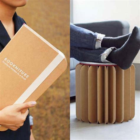 standing desk and chair bookniture origami inspired cardboard standing desk and