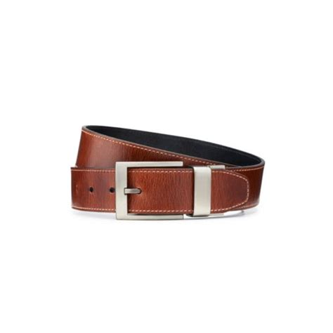 s leather reversible belt brown mens