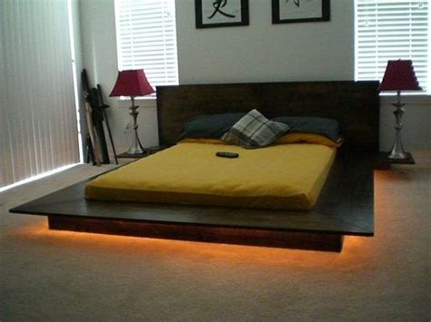 japanese influenced platform bed  profile  modern