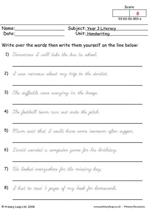 printable worksheets to improve handwriting worksheets to improve handwriting checks worksheet