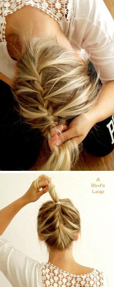 how to do an upside down french braid bun upside down french braid hairstyles how to