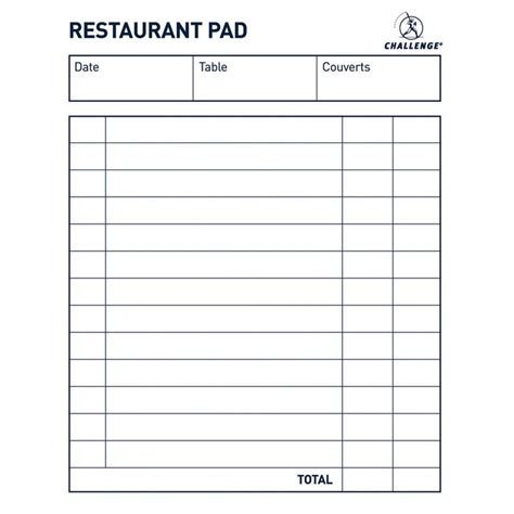 Waitress Order Pad Template 28 Images Restaurant Order Pad Template Tab Pads Restaurant Server Order Pad Template