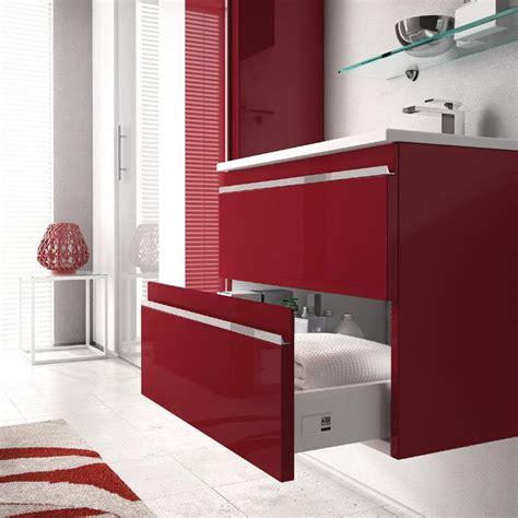 arredo bagno rosso arredobagno mistral laccato rosso lucido ideagroup