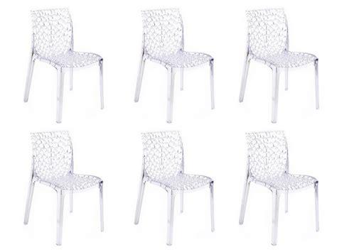 lot 6 chaises pas cher lot de 6 chaises diademe empilables en polycarbonate