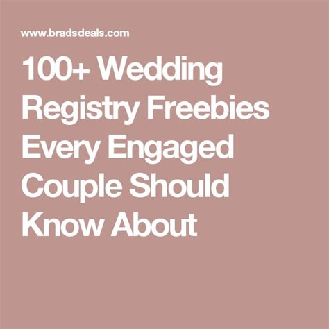 Wedding Registry Freebies by Best 25 Wedding Freebies Ideas On Wedding