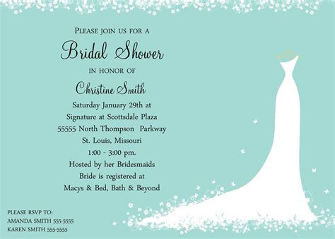 when should bridal shower invitations be mailed bridal shower invitation