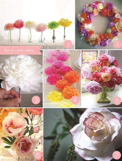 fiori carta velina fiori di carta fai da te