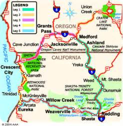 map of northern california and southern oregon