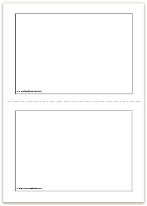 photo card templates free printable flash cards template