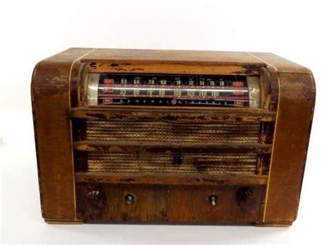 ge wood cabinet radio vintage electronics