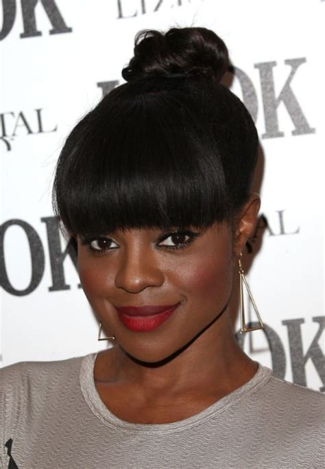 african american braids with bangs keisha buchanan knot hairstyle with bangs for african
