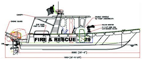 parts of a rescue boat fire rescue 29 high speed fire and rescue boat