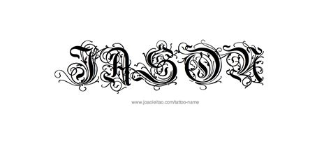 tattooed names with design jason name designs