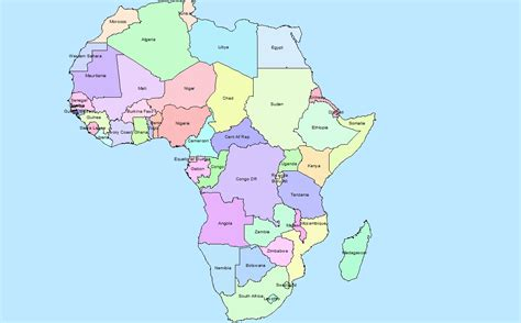 africa map countries labeled www pixshark images