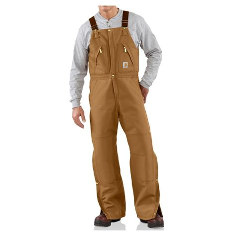 Carhartt Quilt Lined Duck Coveralls by Carhartt S Duck Zip To Waist Bib Overalls Quilt Lined