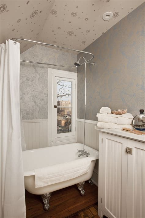 bathroom tub shower ideas astonishing clawfoot tub shower curtain ideas decorating