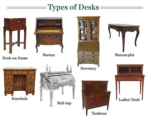 Different Types Of Desks | 309 best images about furniture desks vanities on