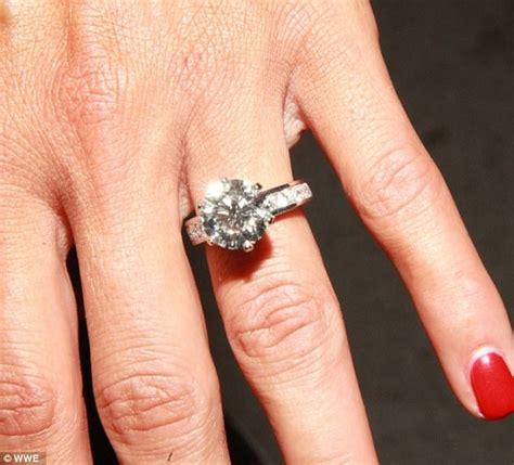 wwe s john cena proposes to nikki bella with huge diamond