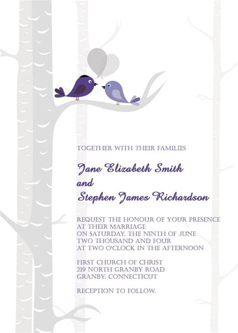 blank printable wedding invitation kits wedding invitations free birds free wedding invitation
