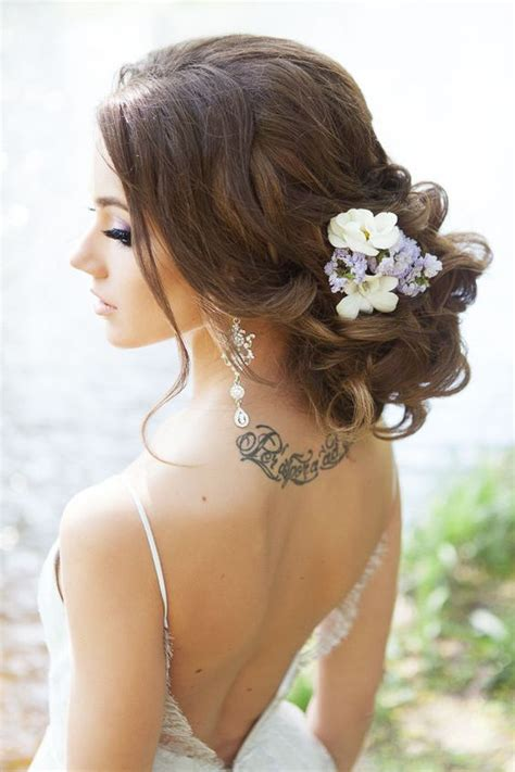 Wedding Updos With Flowers by Wedding Hairstyle Ideas For Hair Weddingwoow