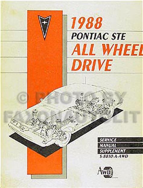 service manual how to change a 1988 pontiac bonneville rear wheel bearing vaultfan92 1988 1988 pontiac 6000 ste all wheel drive repair shop manual original supp