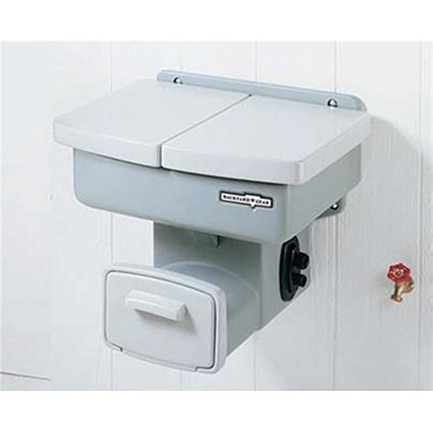 backyard gear outdoor sink with hose and hose reel outdoor lawn and garden sink organised water station